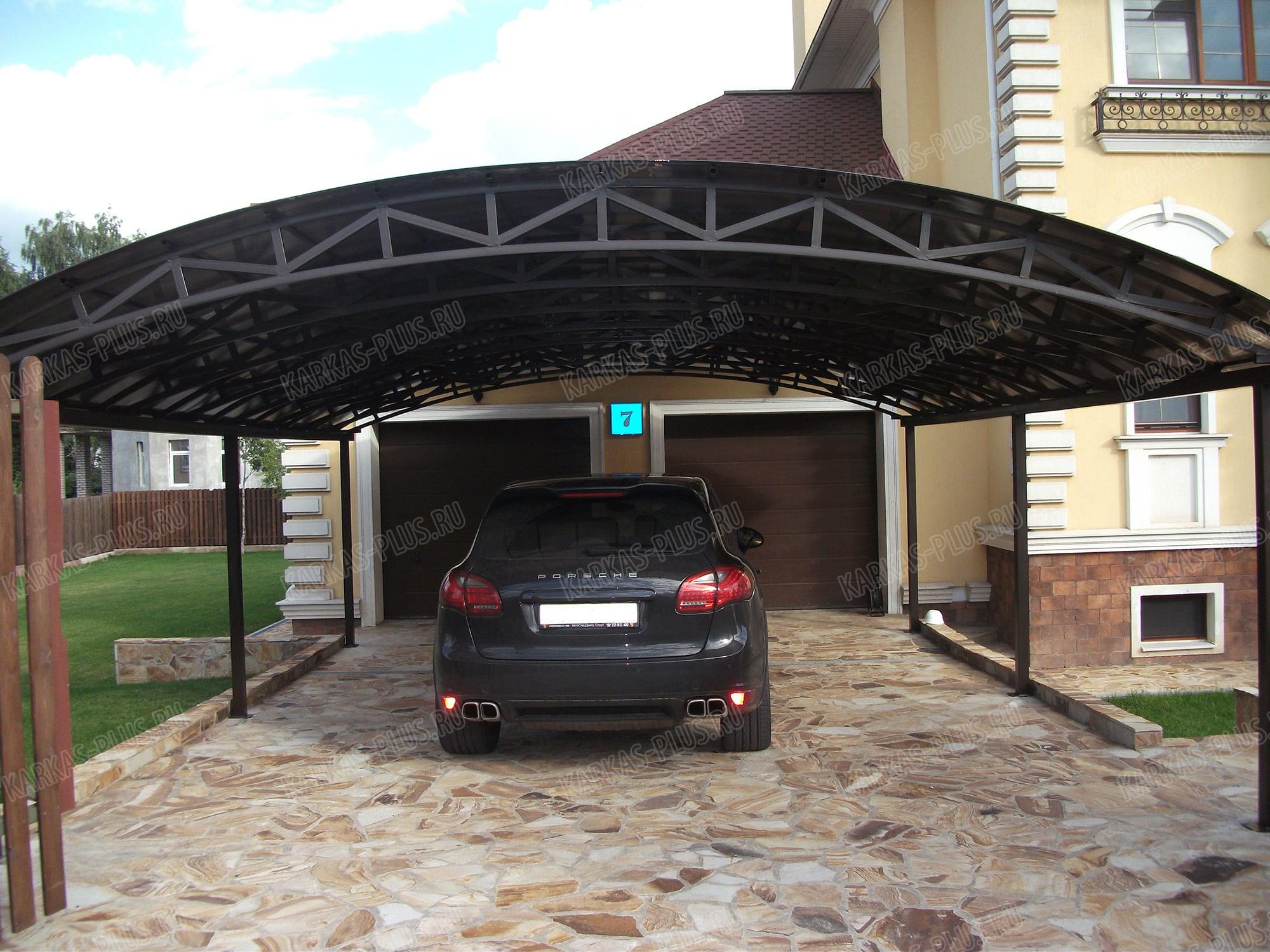 Стоянка своими руками: для машины, на даче, как сделать, из щебня 3